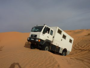 Barchan Type of Dunes are not Nice to Trucks