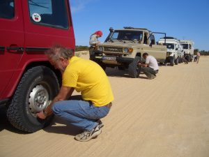 Inflating Tires Leaving the Dunes | Tunesia