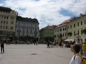 Lots of Pubs at the Market in Bratislava | Slovakia