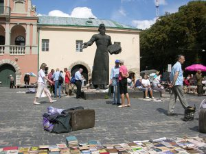 Books are Sold here in Summer in Lviv | Ukraine