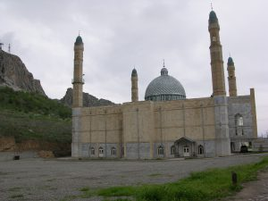 Mosque at its Foot | Kyrgyzstan