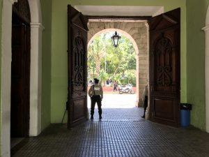 ...Policia at Centro Cultural Olipio...